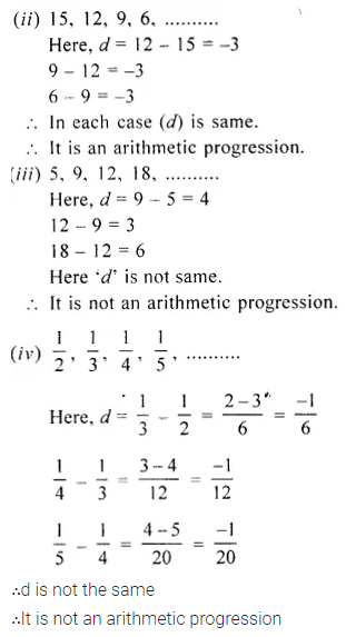 Arithmetic Progression Concise Solutions for ICSE Maths ...